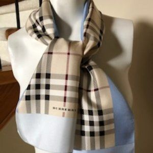 Burberry of London authentic scarf in 100% silk
